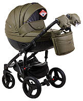 Дитяча універсальна коляска 2 в 1 Adamex Monte Deluxe Carbon 58S-CZ, фото 1