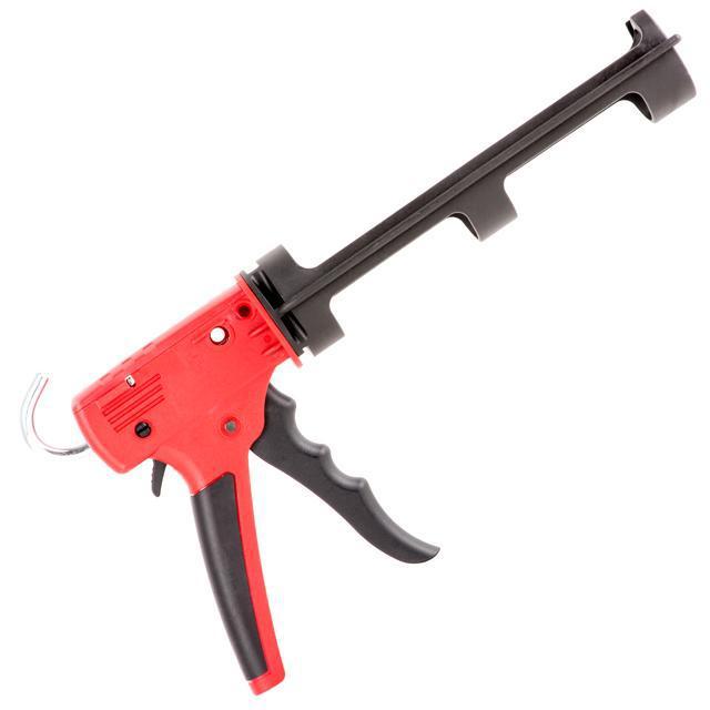 Пистолет для герметика, усиленный пластик, 2 режима INTERTOOL HT-0028