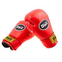 Перчатки боксерские BWS CLUB FLEX (4 - 6 унций, красные)