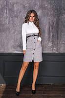Женское платье офисное+ремень мод.7041