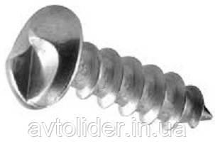 Нержавеющий антивандальный шуруп с полукруглой головкой и однонаправленным шлицем, One-way