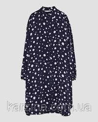 Длинная рубашка-платье в горох ZARA р. XS