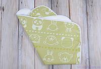Непромокаемая пеленка 60*80, мишка и друзья салатовая, фото 1