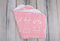 Пеленки непромокашки для детей (размер 60*80 см), Мишка и друзья розовая, фото 1