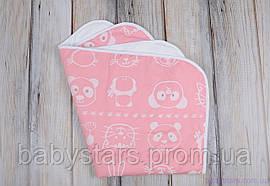 Пеленки непромокашки для детей (размер 60*80 см), Мишка и друзья розовая