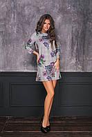 Женское платье розы-клетка мод.7050, фото 1