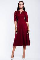 Классическое офисное платье с расклешенной юбкой, фото 1