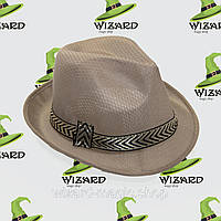 Шляпа Федора бежевая