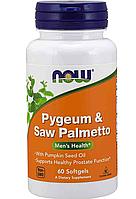 Пиджеум и Со пальметто, Now Foods, Pygeum & Saw palmetto, 60 softgel