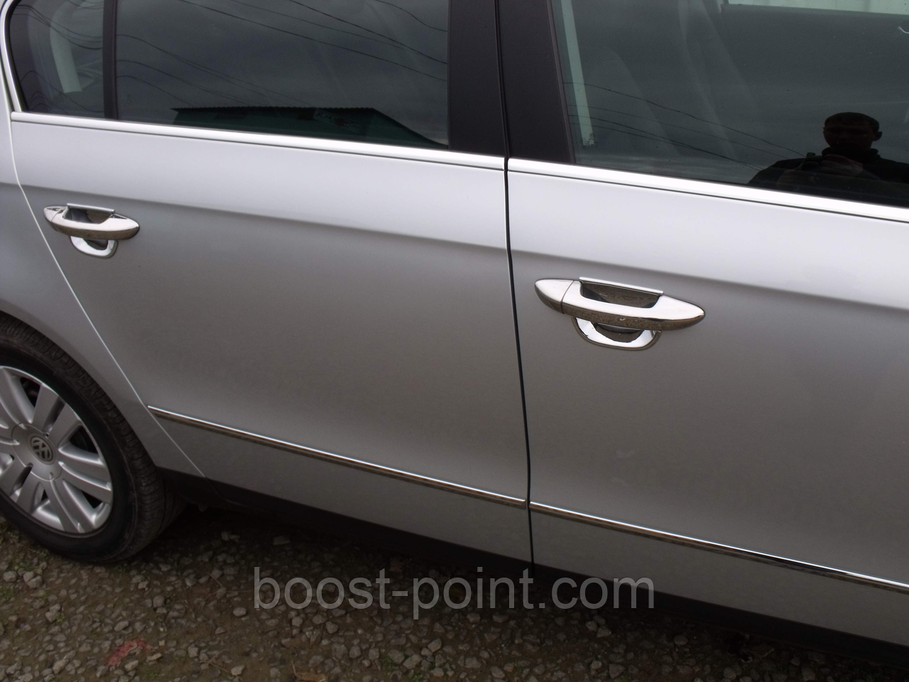 Хром накладки на дверные ручки (нерж) Volkswagen passat b7 (фольксваген пассат б7) 2010г+