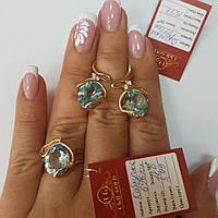 Золотой кольцо 585 пробы с топазом.