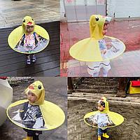 Детский плащ-дождевик материал пластик + ПВХ