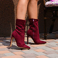 Женские  ботинки бордо   острый  нос, фото 1