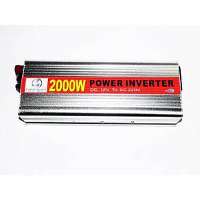 Преобразователь AC/DC 2000W HAD, инвертор 2000 W, автоинвертор, преобразователь напряжения, преобразователь 12, фото 3
