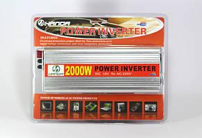 Преобразователь AC/DC 2000W HAD, инвертор 2000 W, автоинвертор, преобразователь напряжения, преобразователь 12, фото 2