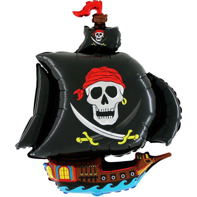 Фол шар фигура Пиратский корабль Черный (ФМ)