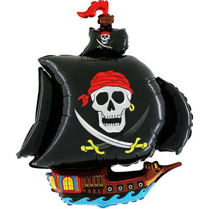 Фол шар фигура Пиратский корабль Черный (ФМ), фото 2