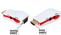 Конвертер переходник из HDMI в VGA, +ЗВУК+ПИТАНИЕ, адаптер , фото 1