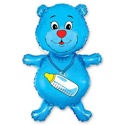 Фол шар фигура Мишка с соской Голубой (ФМ), фото 2