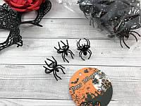 Кольцо-паук черный, 100шт набор, декорации на Хэллоуин