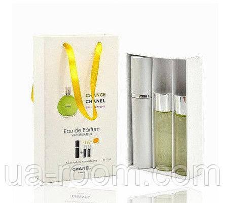 Мини-парфюм женский Chanel Chance Eau Fraiche, 3х15 мл