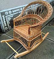 Крісло-гойдалка плетені з лози