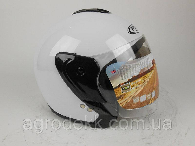 Шлем интеграл  HF-217 белый глянец
