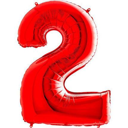 Куля Цифра 2 Червона Грабо, фото 2