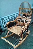 Плетене крісло гойдалка з лози | крісло-гойдалка для відпочинку садова для дачі