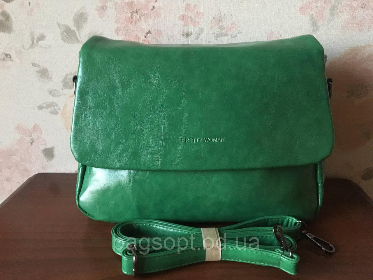 Городская сумка через плечо женская зеленого цвета Pretty Woman Одесса 7 км
