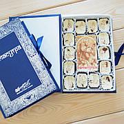 "Набор конфет ""Камасутра"" с фундуком, синяя, классическое сырье. Размер: 190х131х36мм, вес 280г"
