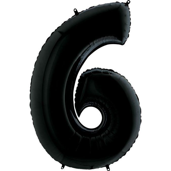Куля Цифра 6 Чорна Грабо