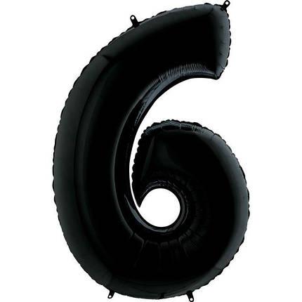 Куля Цифра 6 Чорна Грабо, фото 2