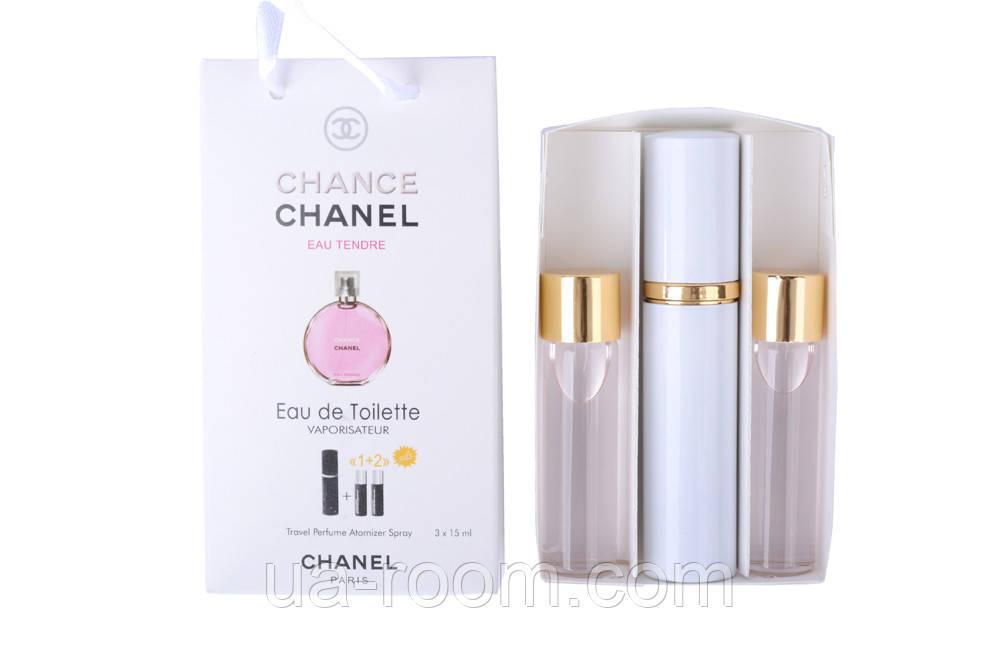 Мини-парфюм женский Chanel Chance Eau Tendre, 3х15 мл
