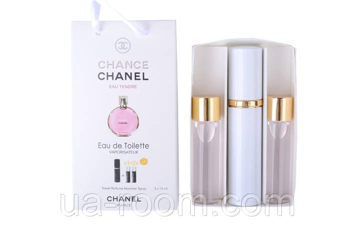 Мини-парфюм женский Chanel Chance Eau Tendre, 3х15 мл, фото 2