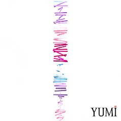 Гирлянда картон плоская Розовые, малиновые, сиреневые и голубые Полоски 1,2 м
