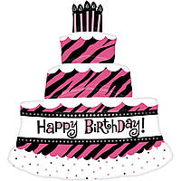 """Фольгированный шар Б/Ф """"Happy Birthday торт для королевы"""""""