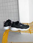 Мужские кроссовки Fila Ray Black White. Живое фото (Люкс реплика ААА+), фото 2