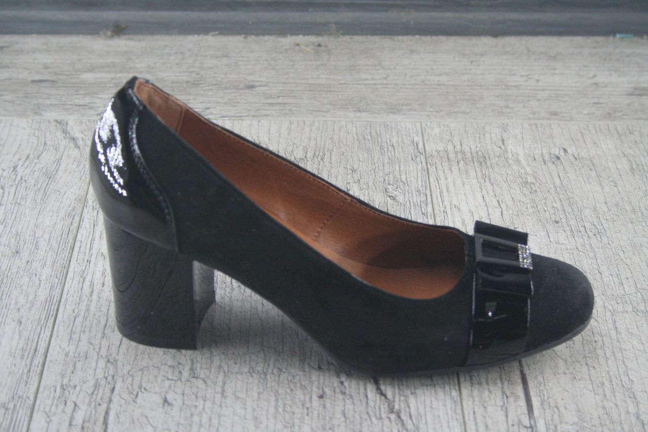 Туфли на каблуке Foot Step, обувь женская, натуральная, Украина