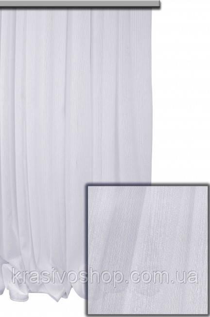 Тюль тіфані біла