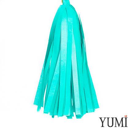 Декор: кисточка тассел бирюзовая (1шт), фото 2