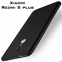 Тонкий бампер, чехол-накладка для Xiaomi Redmi 5 plus, цвет черный, фото 1