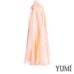 Декор: кисточка тассел персиковая (1шт)