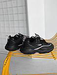 Мужские кроссовки Fila Ray Black. Живое фото (Люкс реплика ААА+), фото 2