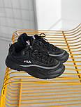 Мужские кроссовки Fila Ray Black. Живое фото (Люкс реплика ААА+), фото 4
