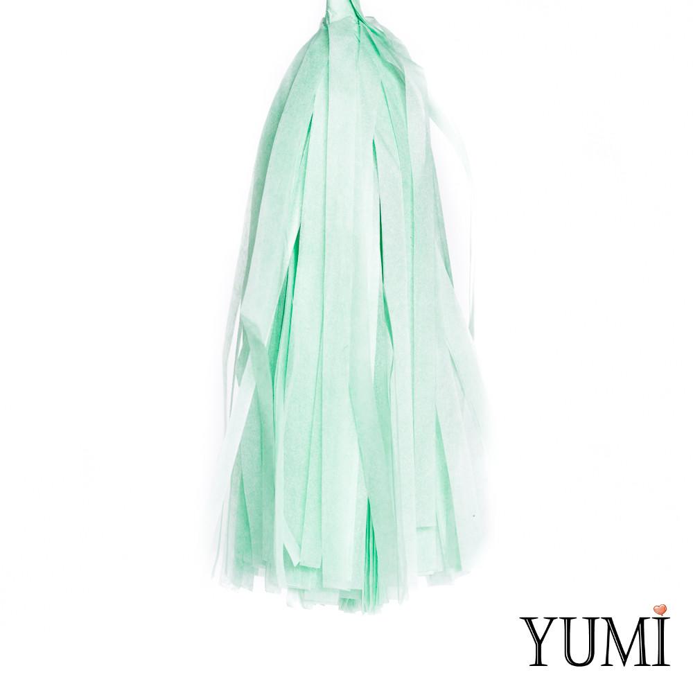 Декор: кисточка тассел мята (1шт)
