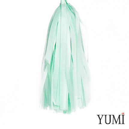 Декор: кисточка тассел мята (1шт), фото 2