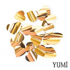 Конфетти сердечки золото, 35 мм