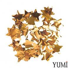 Конфетти звезды золото, 35 мм