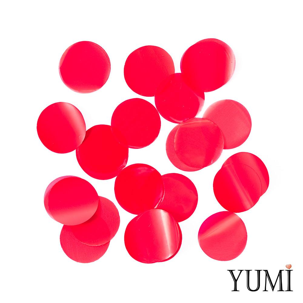 Конфетти круги красные, 35 мм